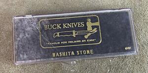 BUCK KNIVES WASHITA STONE KNIFE SHARPENING HONING #131