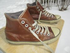 Converse All Star Hi Top Brown Leather Unisex Shoe / Pre-owned / M 10 / W 12