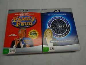 DVD Games Lot 2 FAMILY FEUD & Who Wants to be a MILLIONAIRE