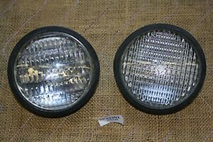 Harley FXR Police fairing FXRP clear passing lamps + OEM gaskets FXRT EPS23202