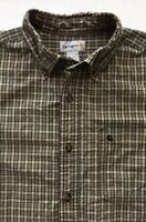 Men's Carhartt Shirt Size L Button Down Long Sleeve Front Pocket 100% Cotton