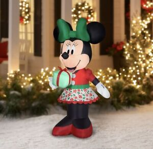 🎄NEW 5 ft MINNIE MOUSE CHRISTMAS INFLATABLE DISNEY CHRISTMAS AIR BLOWN