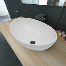 Lavabo Ceramico, Lavamanos Mueble, pica de Baño Ceramica Cocina  Ovalado 40x33cm