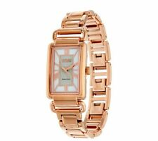 """ECCLISSI ROSE PLATED STERLING SILVER ADJUSTABLE 7-1/2"""" STATUS WATCH QVC $279"""