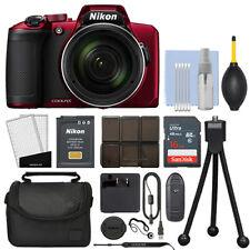Nikon Coolpix B600 16MP Digital Camera 60x Optical Zoom Red Full-HD + 16GB Kit