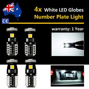 4x For Toyota Tarago 2006 License Number Plate Light Globes 6000K White LED Bulb