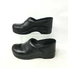 Dansko Pull Up Clogs Slip On Comfort Shoes Round Toe Leather Black Womens 42 W
