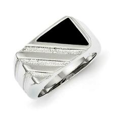 925 Sterling Silver Men's Onyx Ring Size-11