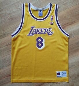Kobe Bryant NBA LAKERS 8 Vintage Champion Basketball Jersey Size L 14-16