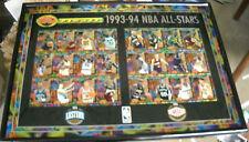 RARE 1993-94 FINEST BASKETBALL ACRYL ETCH UNCUT ALL STAR CARD SHEET FRAMED