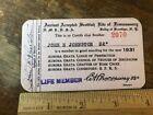 Masonic Ancient Scottish Rite Member Card 1931 Brooklyn New York Ephemera