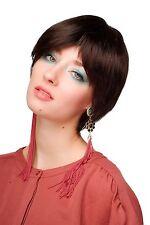 Wig Me Up Perruque pour Femme Carré Court Page Marron Brun Foncé Wl-3056-4