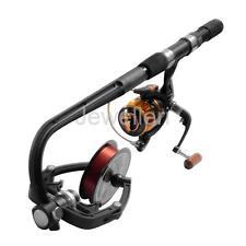 Ultimate Line Winding System Spinning Fishing Reel Line Spooler Winder Black