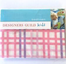 Designers Guild Plaid Purple & Pink Standard Pillowcase Patterdale Peony Kids