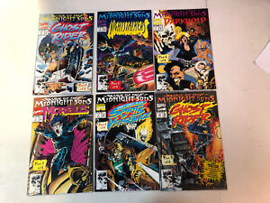 Rise Of The Midnight Sons (1992) 6-part storyline VF/NM Complete Set Ghost Rider