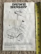 Revell Dune Buggy 1/32 Scale  Slot Car  Instructions ..... Original..1970