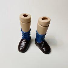 Vtg Porcelain Doll Legs 3� Molded Socks Shoes Boy Parts For 12� Dolls