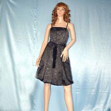 silber Lurex-Blumen am COCKTAILKLEID* XS 34  Abendkleid* Etuikleid* Sommerkleid