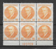 CANAL ZONE , US , 1928/40 , HODGES , PLATE BLOCK OF 6 10c STAMP , PERF , MNG