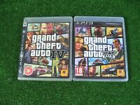 2 x PLAYSTATION 3 GAMES 'GRAND THEFT AUTO IV & V' WITH MANUALS + MAPS *GTA *PS3