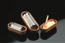 ARMONIE grattugia formaggiera acciaio inox  base legno di ciliegio cm 15.5x6.5