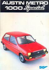Austin Metro 1000 Special French market 1982 original colour sales brochure