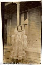 EARLY 1900's NATIVE AMERICAN WOMAN KUSPUK INUIT ORIGINAL PHOTO ~ PARKA