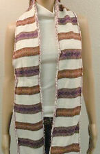 Reversible Striped Scarf by American Rag Reverse Navajo Indian Design NEW $40
