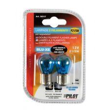 Blue Dyed Glass Lampada 2 filamenti (P21/5W) 21/5W BAY15d due pezzi Luce Bianca