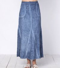 XCVI Kendall Skirt Linen Cold Wash Blue- NWT Size XS