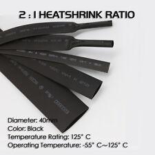 2 pies 1//2 in-12.7 mm de diámetro Adhesivo Forrado CALOR SHRINK TUBO Tubo Negro Resistente Al Agua