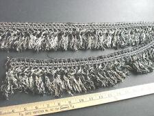 "Antique Knotted  Rayon Tassel Trim  4"" Black & White Vintage 50"""
