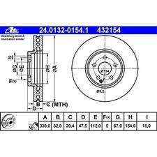 ATE 24.0132-0154.1 Bremsscheiben 2 Stück für MERCEDES-BENZ
