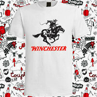 New Winchester Gun Pistols Riffle Firearms Logo Men's White T-Shirt Size S-3XL
