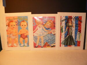 "Paper Doll Reproductions, ""Three Sweet Baby Dolls"", ""B is for Betsy"" & ""Claudett"