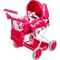 Großer Puppenwagen Pink höhenverstellbar 43-63cm klappbar NEU / OVP