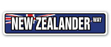 NEW ZEALANDER FLAG Street Sign new zealand national pride country