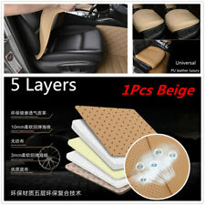 1Pcs Comfortable Breathable PU Leather Bamboo Charcoal Car Seat Cushion Beige
