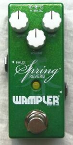Used Wampler Mini Faux Spring Reverb Guitar Effects Pedal