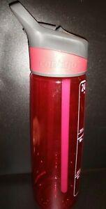 Red 24 Oz CONTIGO Water Bottle Flip Out Nozzle Straw