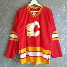 More details for vintage nhl calgary flames ccm maska jersey shirt size m