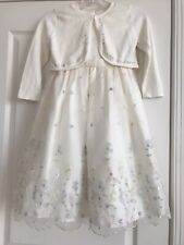 Girls Dressy 2 Pc Ivory Dress & Sweater by Cinderella Sz 6 Easter Wedding B'day