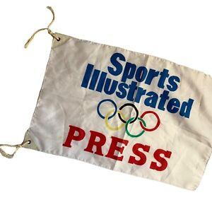 Sports Illustrated Olympics Antenna Press Flag / Banner