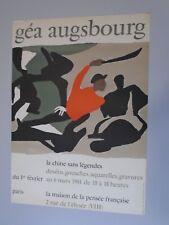 AFFICHE GEA AUGSBOURG - CHINE SANS LEGENDE 1961 - LITHOGRAPHIE 50X70 cm