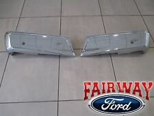 15 thru 17 Ford F150 OEM Genuine Ford Rear Chrome Step Bumpers w/ Prox Sensors