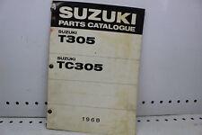 1968 SUZUKI T305 TC305 PARTS CATALOGUE MANUAL (SSM)