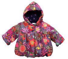 NUOVO senza etichetta Catimini Ragazza Cappotto Invernale con Cappuccio Floreale @ Parka@RRP£68 @ 1 M @