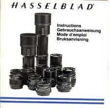 Instruction Gebrauchsanweisung Hasselblad for CF Lenses 25 Pages German English