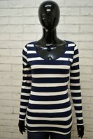 Maglia a Righe Blu Donna G-STAR Taglia M Blusa Polo Manica Lunga Shirt Woman