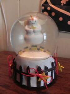 "Dept #56 Snowman Angel Music Box Snow Globe, ""Let It Snow"""